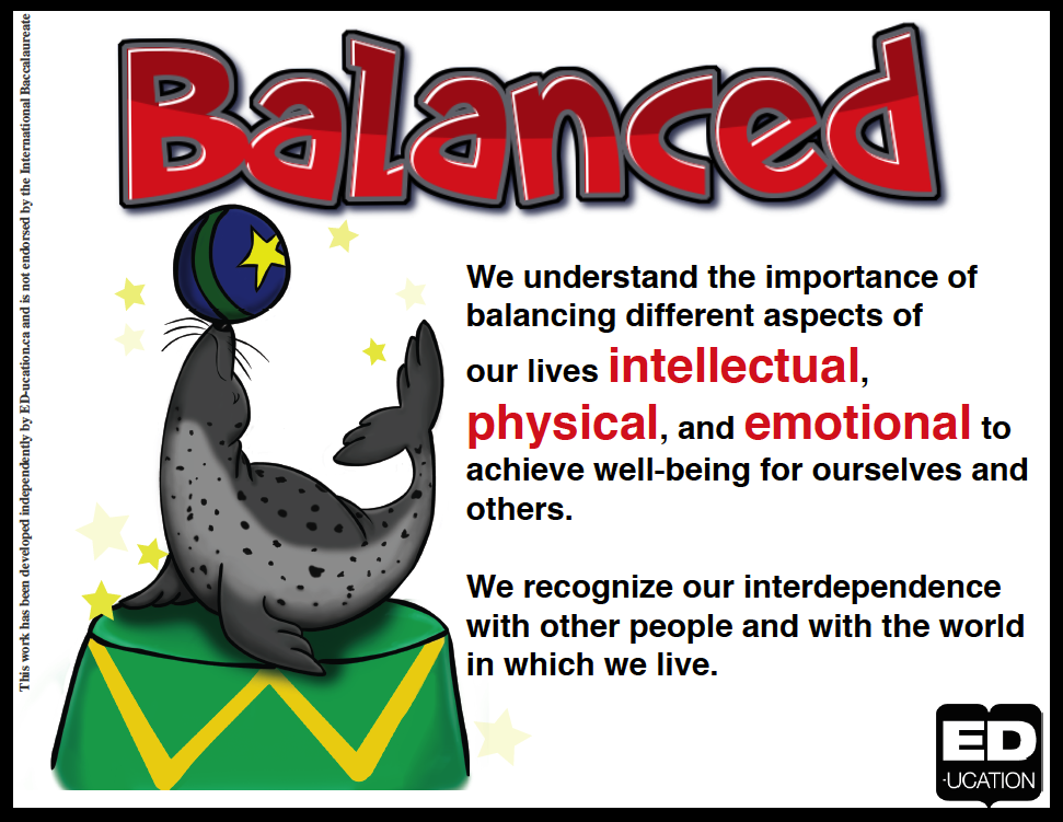 Image result for ib learner profile balanced definition